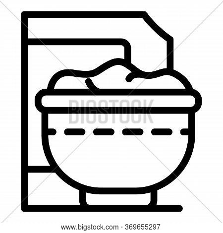Cereal Flakes Icon. Outline Cereal Flakes Vector Icon For Web Design Isolated On White Background
