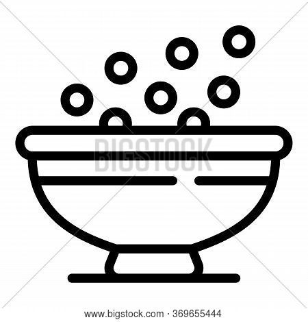Morning Cereal Flakes Icon. Outline Morning Cereal Flakes Vector Icon For Web Design Isolated On Whi