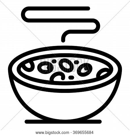 Protein Cereal Flakes Icon. Outline Protein Cereal Flakes Vector Icon For Web Design Isolated On Whi