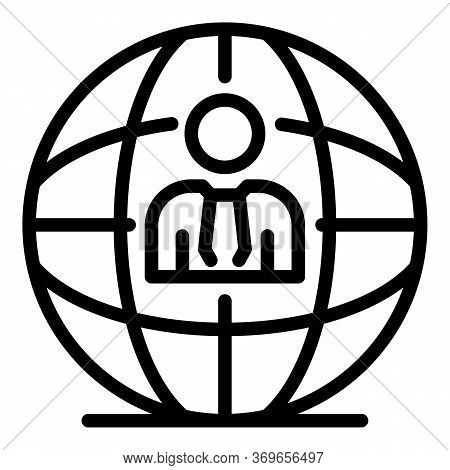 Global Fresh News Icon. Outline Global Fresh News Vector Icon For Web Design Isolated On White Backg