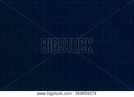 Futuristic Hi-tech Background With Grid, Dots And Crosses. Design For Science Theme, Artifical Intel