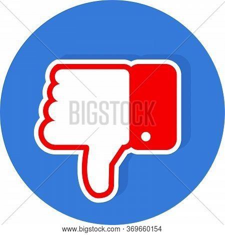 Dislike Vector Icon. Dislike Button, Isolated. Dislike. Vector Collection