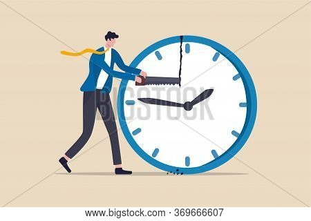 Time Management, Balance Timeline For Work And Personal Life Or Project Management Concept, Business