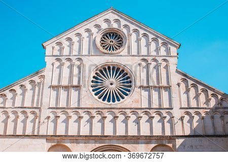 Cathedral Of St Anastasia. The Roman Catholic Cathedral In The Old Town Of Zadar, Croatia