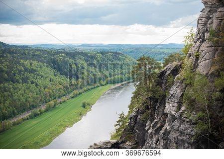 Rock Bridge Bastei And Nature Views - Rathen, Saxon Switzerland, Germany