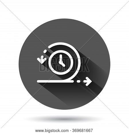 Agile Icon In Flat Style. Flexible Vector Illustration On Black Round Background With Long Shadow Ef