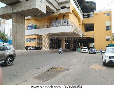 Bangalore, Karnataka/india-jun 04 2020: Beautiful And Landmark Of Namma Metro Green Line Konanakunte