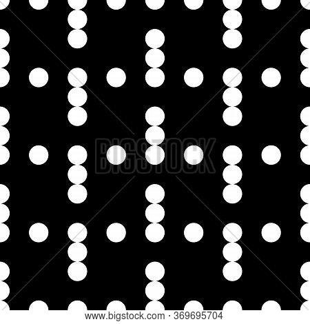 Dots Seamless Pattern. Circles Ornament. Dot Shapes Motif. Circle Forms Backdrop. Dotted Wallpaper.