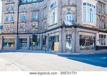 Lancaster Uk May 30 2020 The Frontage Of Waterstones Book On Main Street Lancaster