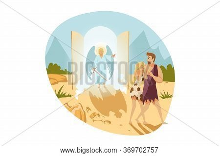 Bible, Religion, Christianity Concept. Old Testament Biblical Genesis Religious Series Illustration.