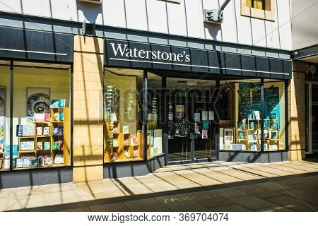 Lancaster Uk May 30 2020 The Frontage Of Waterstones Book Shop Marketgate Shopping Centre