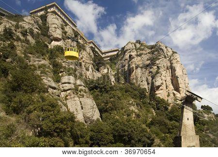 Cabin of 'Aeri' cableway at Montserrat