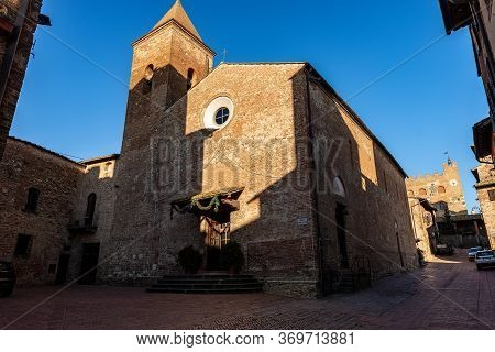 Church Of Saints Jacopo And Filippo In Romanesque Style. Medieval Town Of Certaldo Tuscany, Italy, E