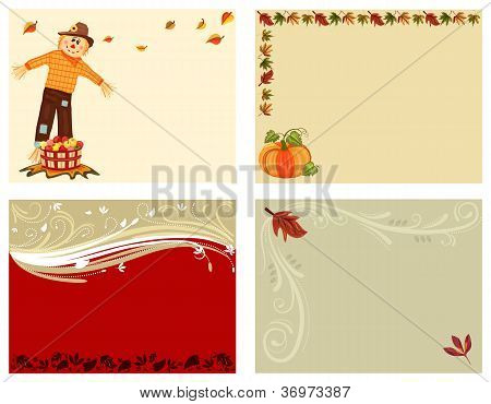 Autumn Set Of 4 Cards