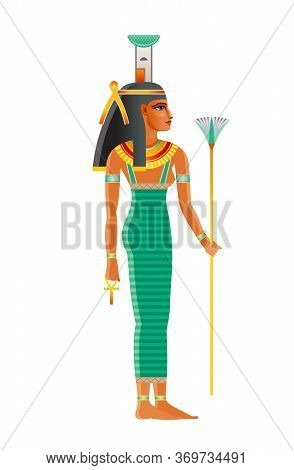 Nephthys Ancient Egyptian Goddess. Daughter Of Nut, Geb. Isis Sister. Seth Wife. Deity Of Mourning,