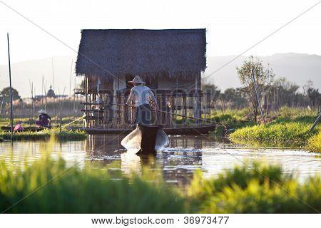 Intha people on Inle lake, Myanmar