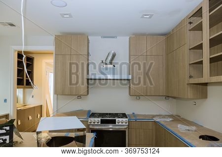 Installing New Modern Kitchen Of Preparing To Custom Installation Process Assembling Furniture
