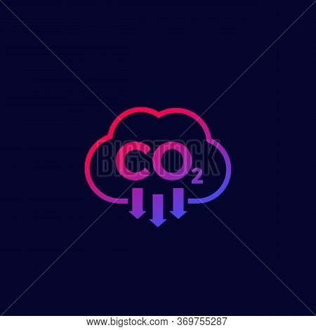 Co2, Carbon Dioxide Emissions Icon, Vector, Eps 10 File, Easy To Edit