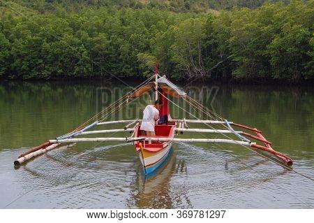 Palawan, Ph - Nov 28 - Bacungan Mangrove River Boat On November 28, 2009 In Puerto Princesa, Palawan