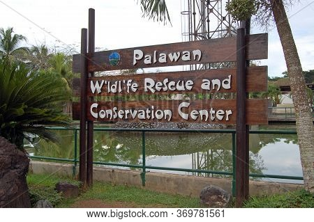 Palawan, Ph - Nov 28 - Palawan Wildlife Rescue And Conservation Center Sign On November 28, 2009 In