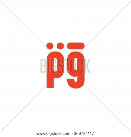 Pg P G Letter Logo With Pink Purple Color And Cutebusiness, Isolated, White, Red, Sign, Abstract, Ba