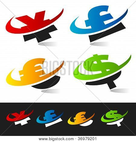 Swoosh Currency Symbols