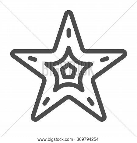 Starfish Line Icon, Nautical Concept, Seastar Sign On White Background, Starfish Icon In Outline Sty