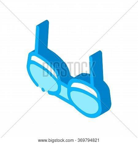 Balconette Bra Icon Vector. Isometric Balconette Bra Sign. Color Isolated Symbol Illustration