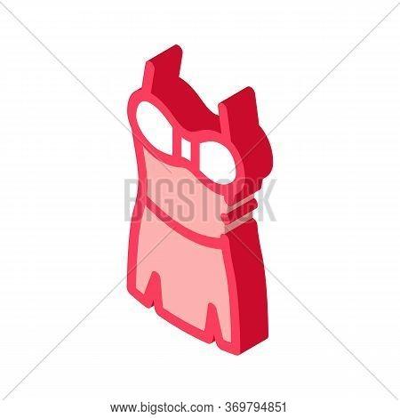Lingerie Skirt Icon Vector. Isometric Lingerie Skirt Sign. Color Isolated Symbol Illustration