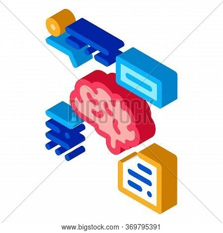 Brain Feature Icon Vector. Isometric Brain Feature Sign. Color Isolated Symbol Illustration