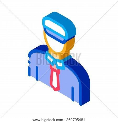 Ship Captain Icon Vector. Isometric Ship Captain Sign. Color Isolated Symbol Illustration