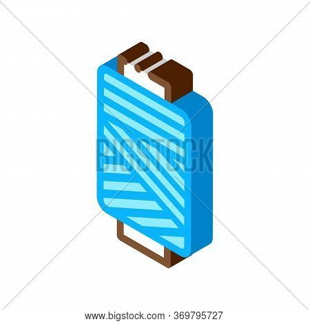 Thread Bobbin Icon Vector. Isometric Thread Bobbin Sign. Color Isolated Symbol Illustration