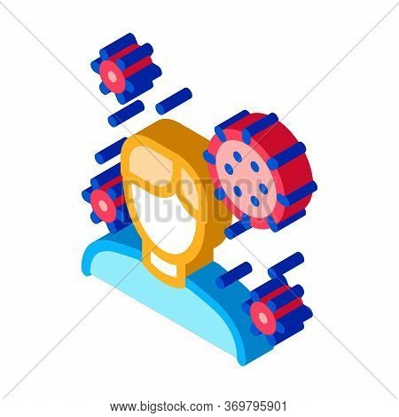Human Microbe Icon Vector. Isometric Human Microbe Sign. Color Isolated Symbol Illustration
