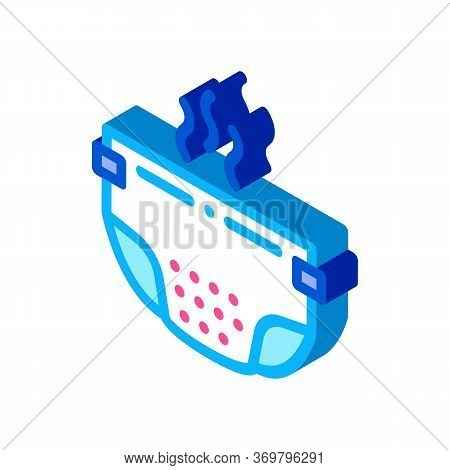 Smelly Diaper Icon Vector. Isometric Smelly Diaper Sign. Color Isolated Symbol Illustration