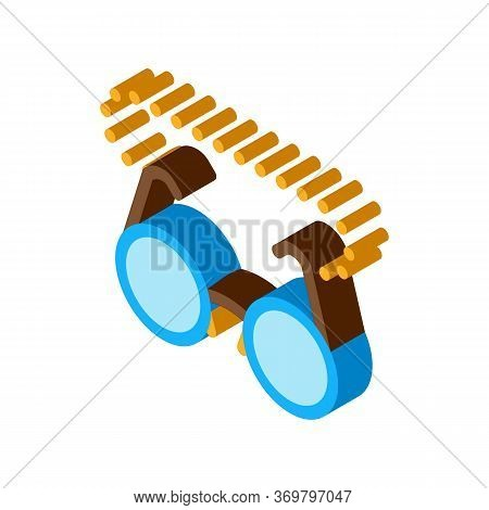 Glasses For Sight Icon Vector. Isometric Glasses For Sight Sign. Color Isolated Symbol Illustration