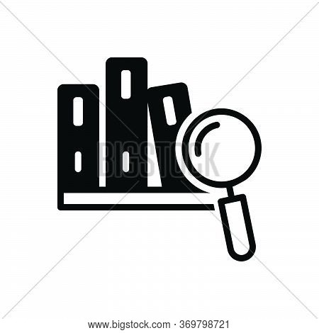 Black Solid Icon For Case-study  Case Learning Magnifier Perusal Study