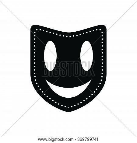Black Solid Icon For Mask Face-mask Masquerade Drama Performance