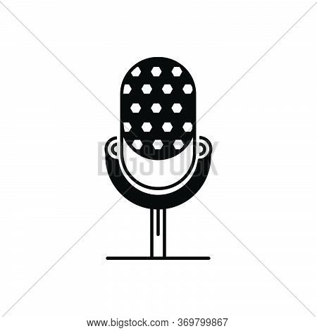 Black Solid Icon For Microphone  Speaker  Mike Microphone