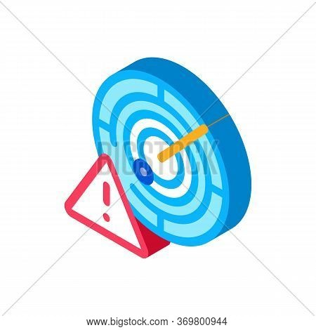 Caution Radar Icon Vector. Isometric Caution Radar Isometric Sign. Color Isolated Symbol Illustratio