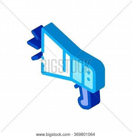 Loudspeaker Tool Icon Vector. Isometric Loudspeaker Tool Isometric Sign. Color Isolated Symbol Illus