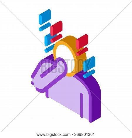 Surprised Human Icon Vector. Isometric Surprised Human Isometric Sign. Color Isolated Symbol Illustr
