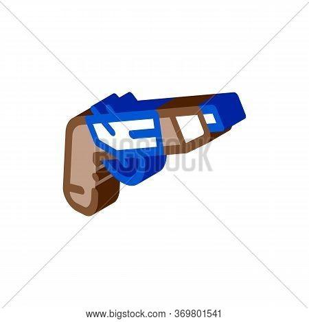 Gun Pistol Icon Vector. Isometric Gun Pistol Isometric Sign. Color Isolated Symbol Illustration