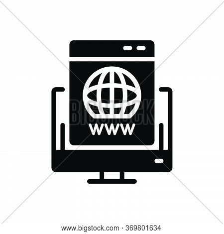 Black Solid Icon For Domain-registration Domain Registration Logo New Website Link