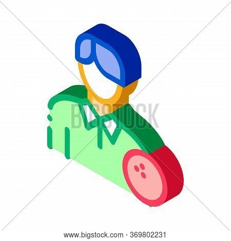 Man Bowling Gamer Icon Vector. Isometric Man Bowling Gamer Isometric Sign. Color Isolated Symbol Ill
