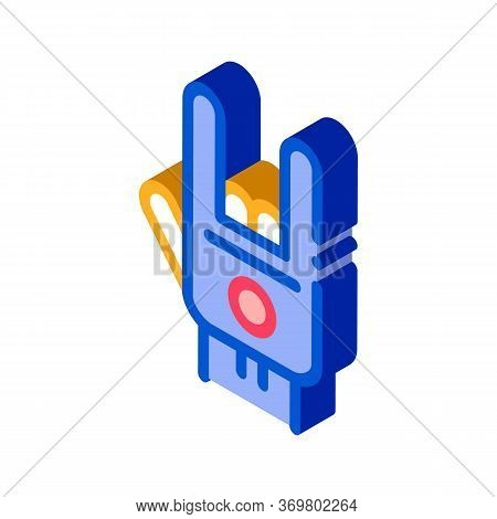 Bowling Building Icon Vector. Isometric Bowling Building Isometric Sign. Color Isolated Symbol Illus