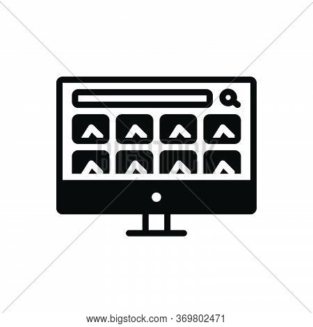 Black Solid Icon For Image-search Image Search Find Quest Result