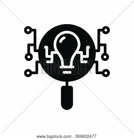 Black Solid Icon For Intelligence-search Intelligence Search Intellect Comprehension