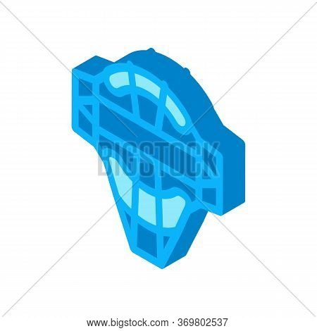 Protection Mask Icon Vector. Isometric Protection Mask Isometric Sign. Color Isolated Symbol Illustr