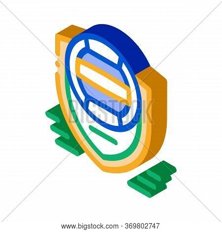 Volleyball Team Emblem Icon Vector. Isometric Volleyball Team Emblem Sign. Color Isolated Symbol Ill
