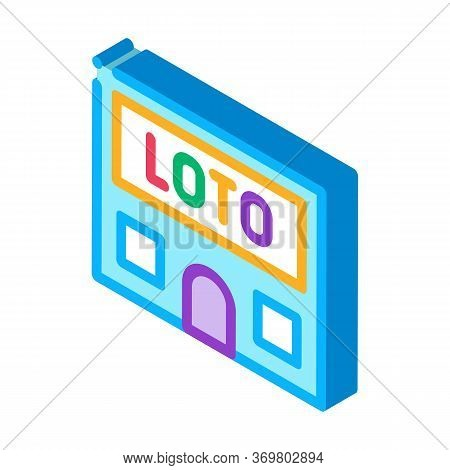 Lotto House Icon Vector. Isometric Lotto House Sign. Color Isolated Symbol Illustration